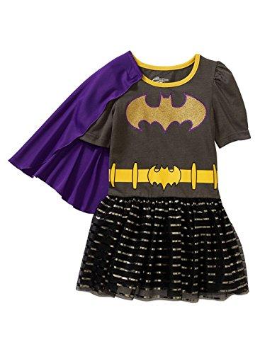 Toddler Girls DC Superhero Girls Batgirl Tutu Dress with Cape (2T)