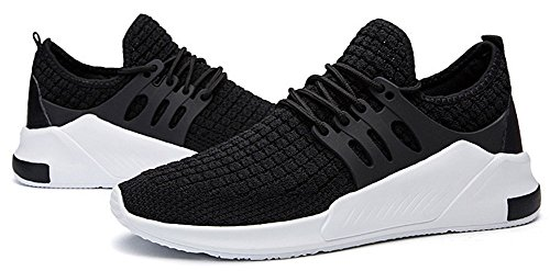 Men's Casual Shoes Running Sneakers Black Fashion Flyknit JiYe Breathable gUd7Bwgq