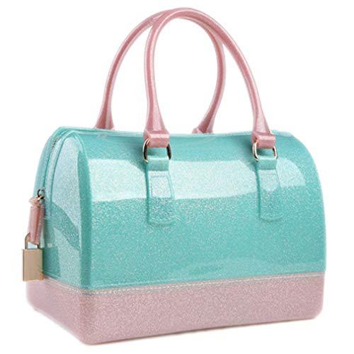 con Playa Playa Green Bolso Bolso de Silicona Glitter Pink Bolsa de de White con Silicona Bolsa de EgR77qUS