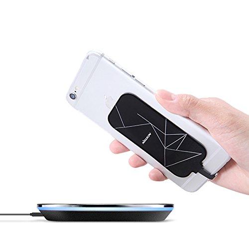 Receptor Cargador Inalámbrico, Nillkin Magic Tag Receptor Qi De Carga Inalámbrica Para Iphone y otros micro USB lado...