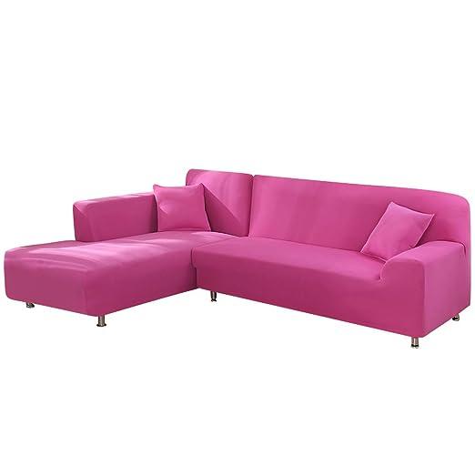 Souarts - Funda de sofá elástica en Forma de L, Juego de 2 ...