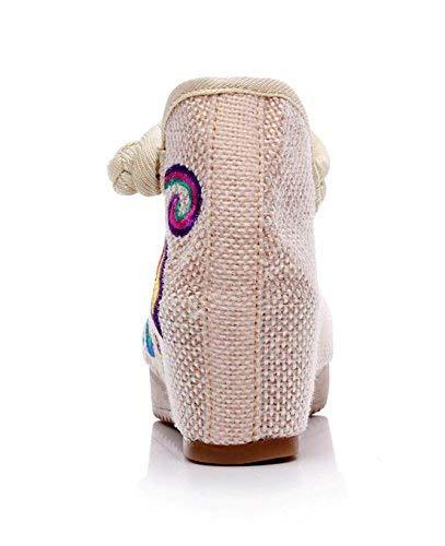 Comodo Bianchi Tendine Fuxitoggo Dimensione Stile Donna Ricamate Metri colore Etnico Suola Moda Scarpe Casual 40 Lino A Da 1Xw6qP1r