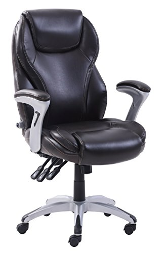 Serta CHR10054B Ergo-Executive Office Chair, Dark Brown