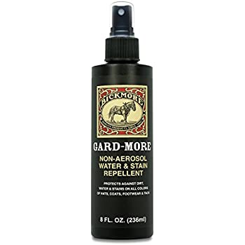 Bickmore Gard-More Water & Stain Repellent 8oz- Leather Protector and Suede Protector Waterproofing Spray Guard For Boots, Shoes, Clothing, Hats, Jackets & More