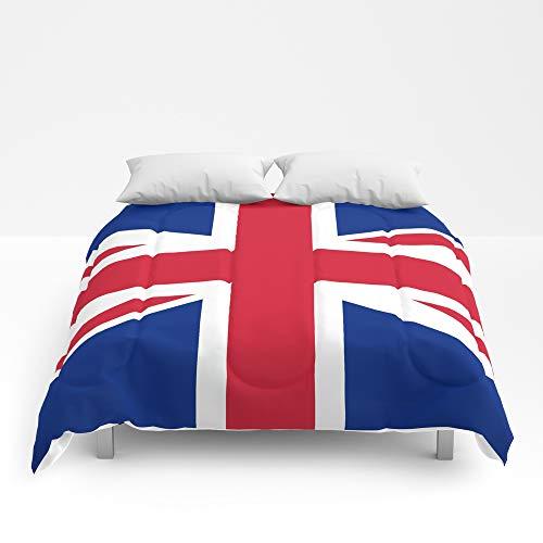 "Society6 Comforter, Size King: 104"" x 88"", UK Flag - The Uni"