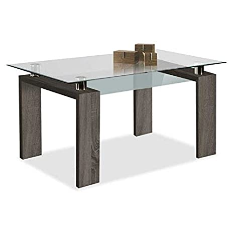 Mueble Mesa de Comedor, Mesa en Cristal Templado, Mesa Moderna ...