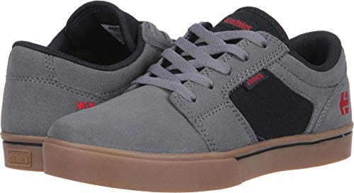 Skateboarding Shoe Boys (Etnies Unisex Barge LS Skate Shoe, Grey/Black/Gum, 6c Medium US Big Kid)