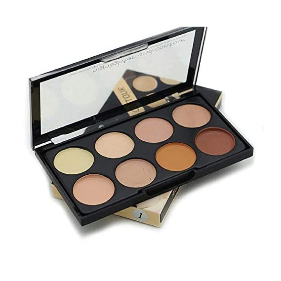MAYU Highlighter and Contour 8 Shades Concealer Palette