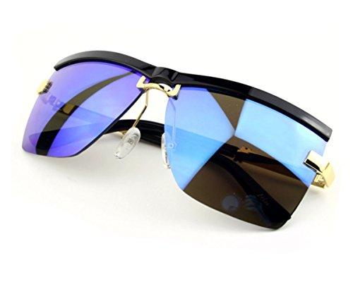 Heartisan Unisex Classic Half Frame Horn Anti-UV Square Lens Sunglasses - Fake 2016 Best Oakleys