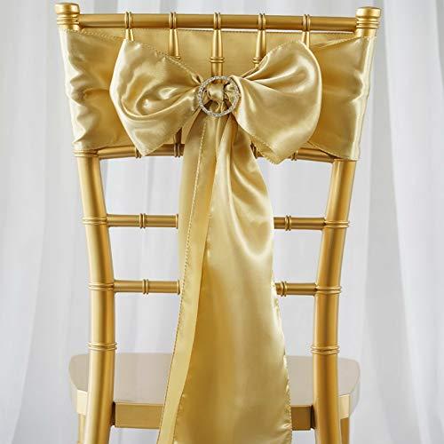 Mikash 75 New Satin Chair Sash Bows Ties Wedding Party Decorations Sale | Model WDDNGDCRTN - 11325 |