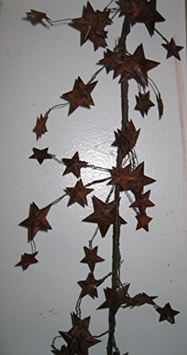 (Metal Star Garland in Choice of Colors and Sizes (.5-1.5 inch, Rusty))