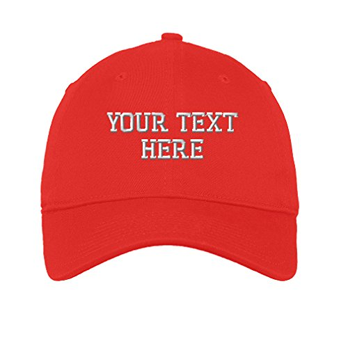 Personalize Your Custom Text On Unisex Adult Flat Solid Buckle Cotton 6  Panel Unstructured Baseball Hat c784a2f94879