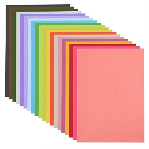 MAGICMAI Construction Paper Double Sided Lightweight Paper A4 Colored Paper 20 Colors 80 Sheets
