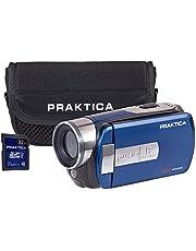 PRAKTICA Z160IR Blue Infra Red WiFi Camcorder inc 32GB SD Card & Case