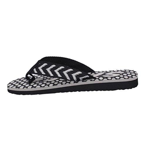 Voberry® Heren Sandaal Slipper Comfortabele Douche Strandschoen Slip Op Flip Flop Zwart