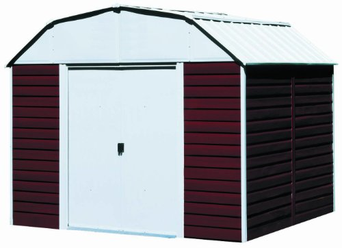 Arrow Red Barn Steel Storage Shed, 10 x 14 ft. Metal Barns And Buildings