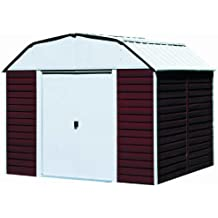 Arrow Red Barn Steel Storage Shed, 10 x 14 ft.