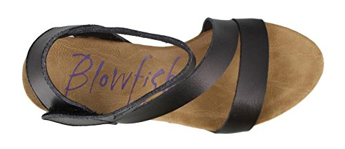 Hapuku Blowfish Black Dyecut Sandal Wedge Women's TwxBq6
