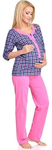 Be Mammy Mujer Lactancia Pijamas Dos Piezas Dorothea Rosa
