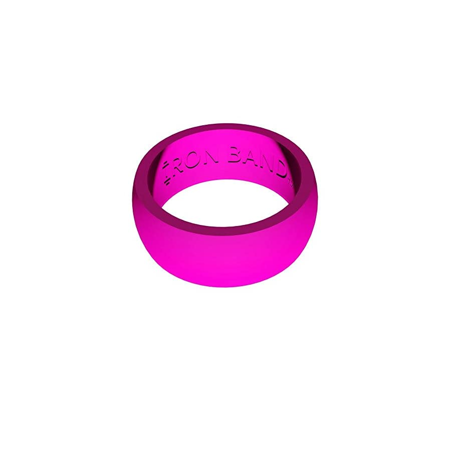 3 Pack Women Silicone Wedding Ring Lime Green, Pink, & Purple ...
