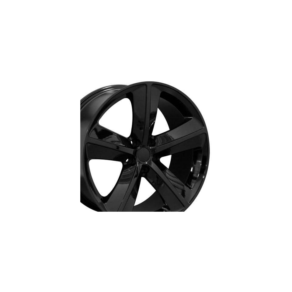 20 inch Fits Dodge   Challenger SRT Aftermarket Wheels   Black 20x9   Set of 4