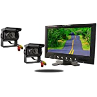 Tadibrothers 9 Inch Monitor and two 120 Degree Mounted RV Cameras