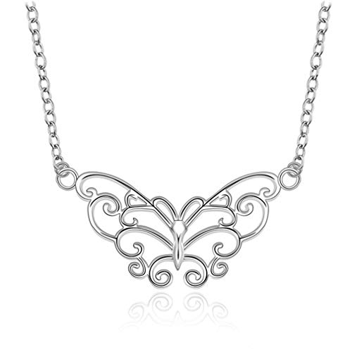 Sterling 925 Silver Necklaces & Pendants Statement Necklace Leafage Blue Stone Crystal Choker Chain For Women Colar Jewelry N646