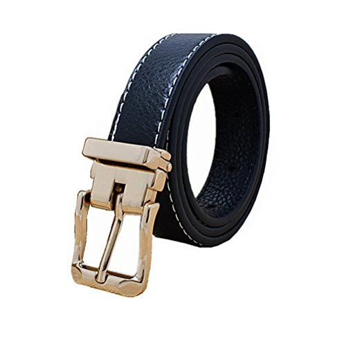 Kids Toddlers Faux Leather Belts Design For Boys Girls With Gold Removeable Buckle (5-10 T/ Waist 21
