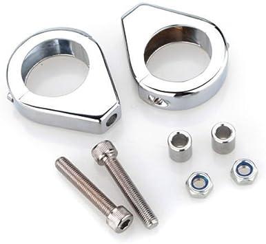 Turn Signal Light Fork Clamp Shock Bracket For Harley Dyna XL883 XL1200 Softail