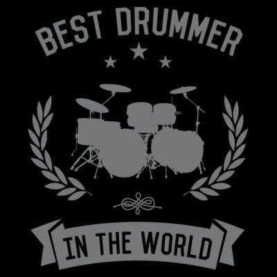 Sudadera con capucha de mujer Best Drummer In The World by Shirtcity Negro
