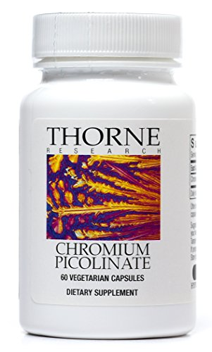 Thorne Research - Chromium Picolinate - Chromium Supplement to Aid Metabolism of Carbs and Sugar - 60 Capsules