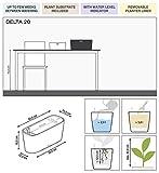 Lechuza 15577 Delta Self Watering Garden Planter