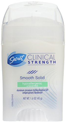 Price comparison product image Secret Clinical Strength Smooth Solid Women's Antiperspirant & Deodorant Waterproof All Day Fresh Scent,  1.6 Oz (Pack of 3)