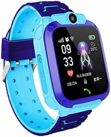 Tonsee Kids Smart Watch, LBS Locator Tracker Smart Watch Telephone SOS Anti-Lost Waterproof Watch, Multifunction Useful Wrist Watches