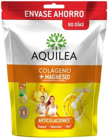 AQUILEA Colágeno Magnesio Sabor Limón Doypack, Blanco