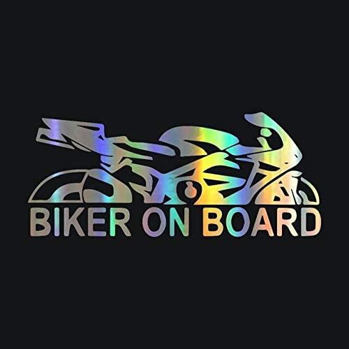 """Rylybons Biker on Board Car Stickers and Decal Stickers Car Styling Decoration Door Body Window Vinyl Stikers - (Color Name: dazzle color, Size: 1pcs)"""" - - Amazon.com"""