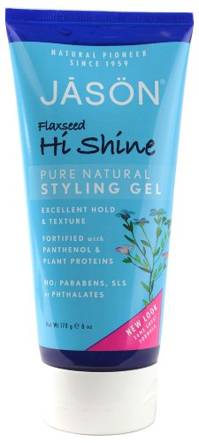 JASON Flaxseed Hi-Shine Styling Gel, 6 Ounce Tubes  by Jason