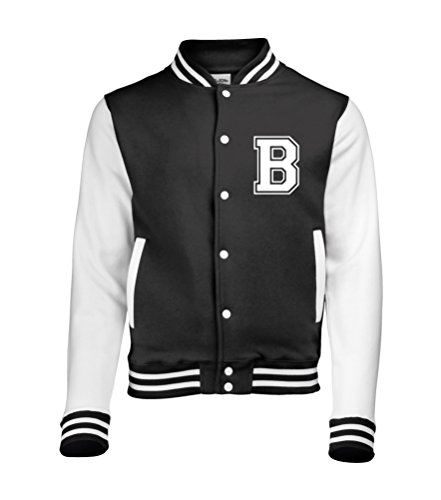 White Iniziale Baseball Sleeves Colori Solo Anteriori Da Adulti college Diversi In Con amp; Varsity giacca Su Personalised Disponibile Black 0TFCwn