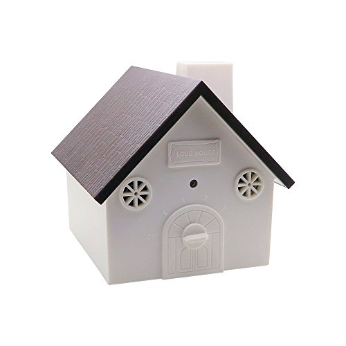 Super Ultrasonic Outdoor Anti-Bark Controller Sonic Bark Deterrents In 2017 Newest Birdhouse Shape (Black)
