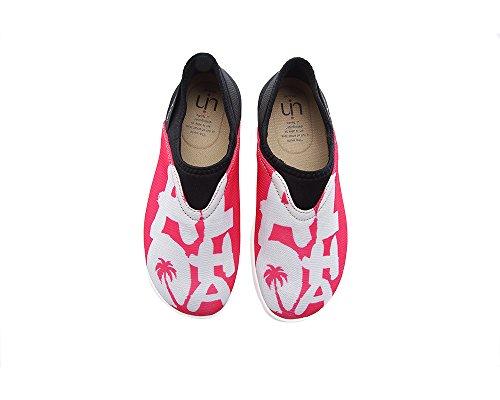 Aloha Coloré Maille Peint Coloré Tissu Voyage Chaussures Rouge