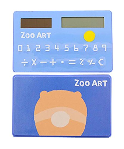 Creative Solar Calculator Cute Mini Calculator, Blue by DRAGON SONIC