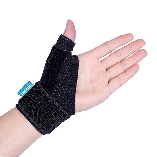 2U2O Compression Reversible Thumb & Wrist Stabilizer Splint(Improved Version) for BlackBerry Thumb, Trigger Finger, Pain Relief, Arthritis, Tendonitis, Sprained, Carpal Tunnel, Stable, (Thumb Joint Support)