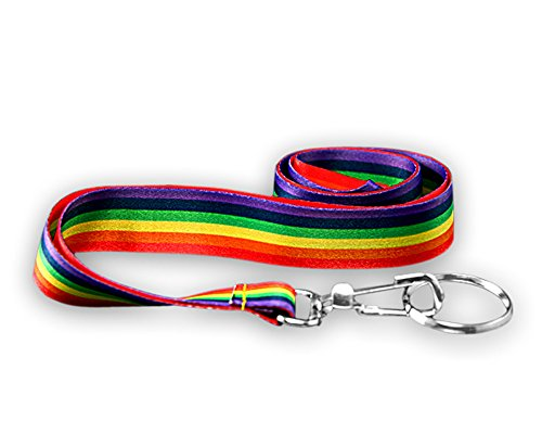 25 Rainbow Lanyards (Wholesale Pack - 25 (Lanyards Wholesale)