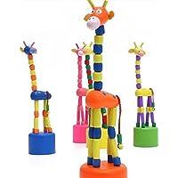 Kalaplanet Wooden Giraffe Rocking Toy - Set of 4