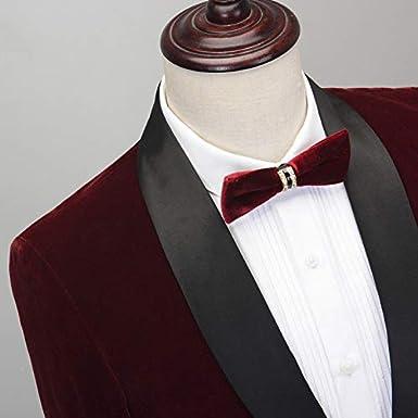 Mens 2 Pieces Slim Fit Tuxedo Velvet Blazer Party One Button Stylish Dinner Jacket /& Pants Suit