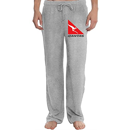 Qantas Airline Logo Kangaroo Cool Men's Sweatpants Ash L