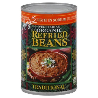 Amy's Refried Traditional Beans Low Sodium 15.4 Oz (Pack of 12) by Amy's