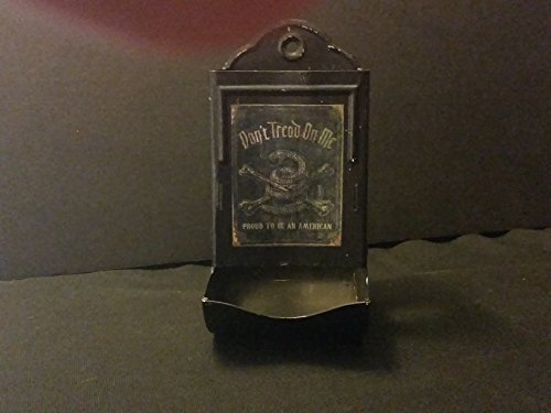 Vintage Style Dont't Tread On Me Tin Matchbox Holder ..Handcrafted by Artist