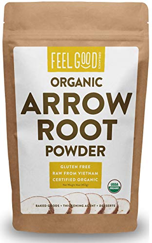 (Organic Arrowroot Powder (Flour) - 1 Pound Resealable Bag (16oz) - 100% Raw From Vietnam - by Feel Good)