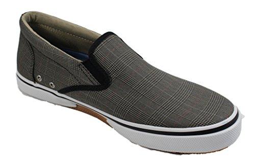 Sperry Halyard Slip On Plaid Bootsschuhe Segelschuhe Sneaker Herren